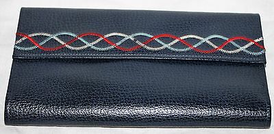 Vintage Princess Gardner Blue Leather Wallet