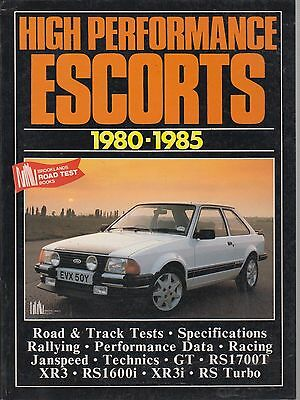 FORD ESCORT MK3 XR3 XR3i RS1600i RS TURBO ( 1980 - 1985 ) PERIOD ROAD TEST BOOK