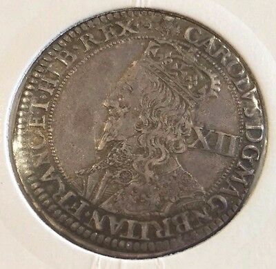 Silver Scottish 12  Shillings of Charles 1st Type IV High grade Coin