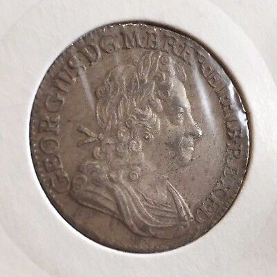 George  I 1723 shilling EF  SSC Silver coin early milled