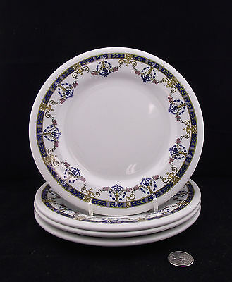 """4 Wood Son England Vitrified Supplied By Cassidy's Limited 8""""  Lunch Plates"""