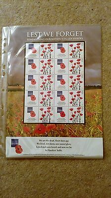 The royal british legion remembering our nation faling heroesfirst day sheet