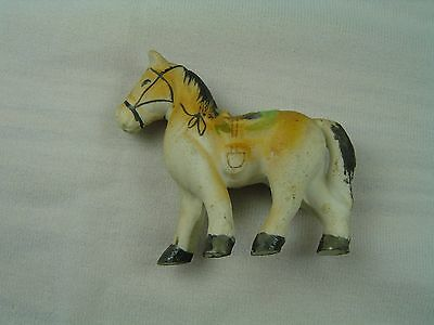 "Vintage Ceramic Pony with Saddle and Bridle marked Japan 3"" Tall"