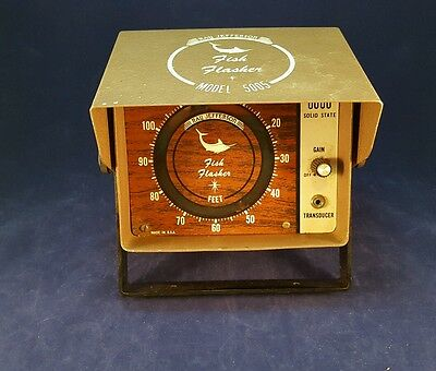 Vintage Antique  Ray Jefferson Fish Flasher model 5005 fishing Fish finder NICE!