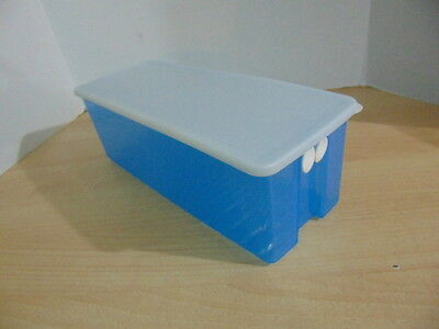 Tupperware Large Fridge Smart Container Cool Blue with Lid For Cellery Asparagus