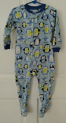 Child of Mine Carters 24 Months one-piece Blue Penguin Footed Pajamas