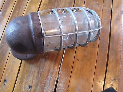 Vintage Industrial grouse hindsExplosion Proof Light Fixture  14 x 6 inches