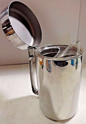 Stainless Steel Creamer Pitcher Spout INOX 18/10 GB Vintage Italy 38 oz Coffee
