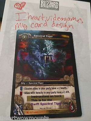 WoW TCG Reins of the Swift Spectral Tiger Card Read Description US/NA/SA