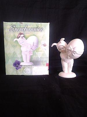 """Dept 56 Snow Bunnies Figurine """"just For You"""" Easter Gift"""