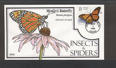 Insects & Spiders FDC, HP Collins, Monarch Butterfly, 3351