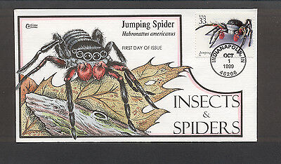Insects & Spiders FDC, HP Collins, Jumping Spider, 3351