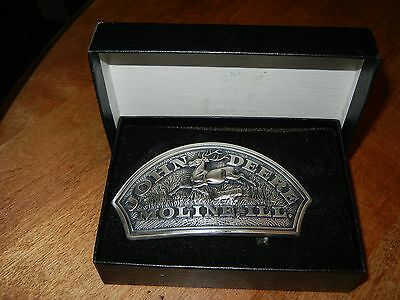 John Deere BELT BUCKLE - 1876 Historical Logo Trademark - Leaping Deer w/ Box