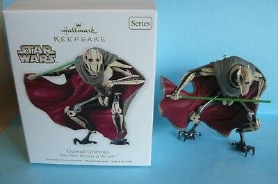 """2012 Hallmark """"GENERAL GRIEVOUS"""" Star Wars:Revenge of the Sith #16 in Series"""