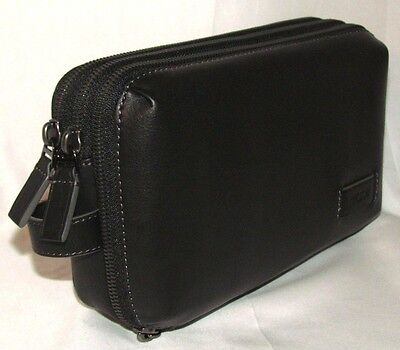 Tumi Harrison Adams Zip 3 Section Travel Wallet Clutch Mens Womens Organizer Bag