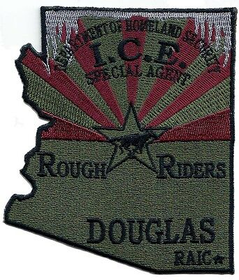 F6 * Squadroom #2 Douglas Az Dhs Rough Riders Federal Ice Fbi Police Patch Atf