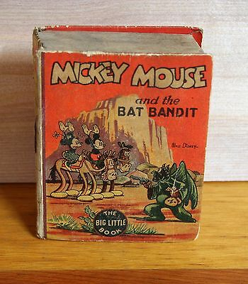 1935 Whitman  MICKEY MOUSE and the BAT BANDIT Big Little Book 1st edition VG