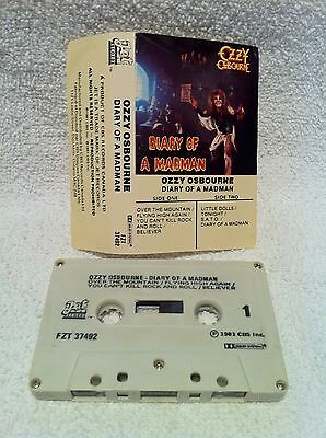 OZZY OSBOURNE Diary Of A Madman CASSETTE Tape CANADA