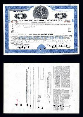 Pennsylvania Company $1,000 9% Bond for Norfolk and Western 1971 - Lot # 39