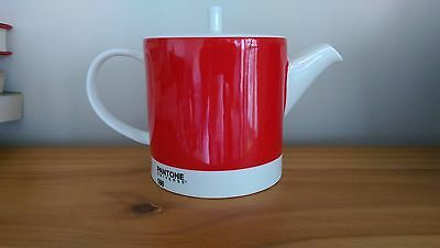 Pantone Red Teapot - Barely Used - Discontinued Product Line