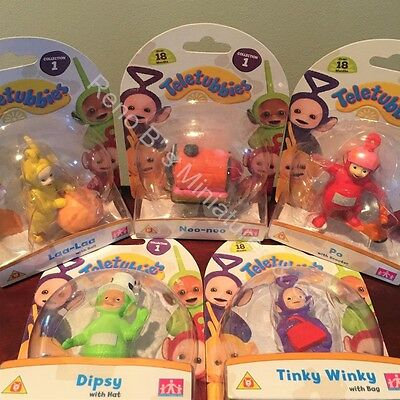 Teletubbies Deluxe Collectable Figures Set of 5 NEW toys FREESHIP US