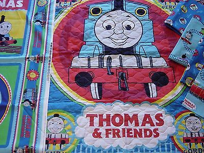New Thomas & Friends Fabric BIG Lot Quilted Quilt Squares Railroad Pillow Panels