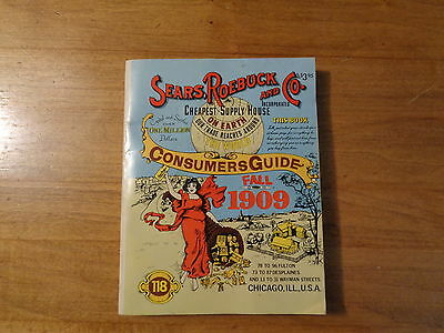 Vintage Sears, Roebuck and Co. Fall 1909 Consumer's Guide Reprint 1979