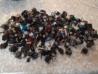 Assorted Lot Of Toggle Switches Buttons Bulb Sockets For Holden Ford Chrysler