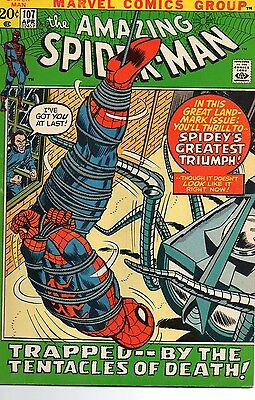 The Amazing Spider-Man #107 (Apr 1972, Marvel) Bronze Age Comic Book