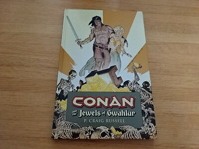 Rare Copy Of Conan And The Jewels Of Gwahlur Hard Cover Graphic Novel!