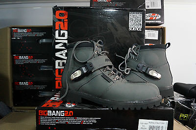 Joe Rocket Big Bang 2.0 Motorcycle Leather  Grey Boots Mens Size 8