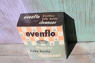 Vintage 1960's EVENFLO Brushless Bottle Cleanser, 16 oz. NOS Advertising Box