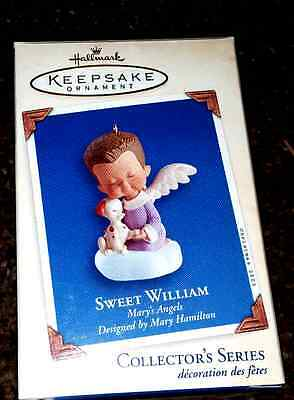 Sweet William Mary's Angels 16th in series with Puppy HALLMARK 2003 New in Box