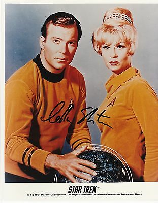 Star Trek William Shatner Autograph & Grace Lee Whitney Color 8x10 Photo w/COA