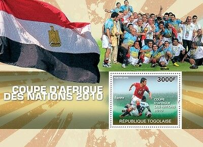 Africa Football Cup of Nations Egypt 2010 s/s Togo 2010 Mi. Bl.546 MNH #TG10303b