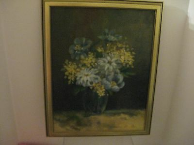 Vintage Original Floral Oil Painting Signed & Framed 15.5X12.5 Framed Size