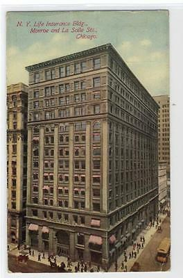 AK Chicago, N. Y. Life Insurance Bldg., Monroe and La Salle Sts.