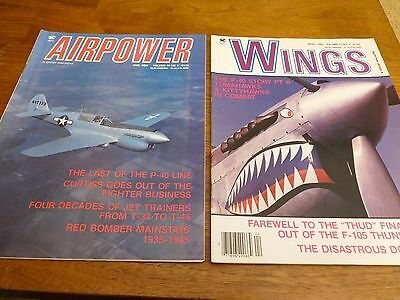 Wings / Airpower Magazines, Lot Of (12) 1983 , Excellent, Gently Read Condition
