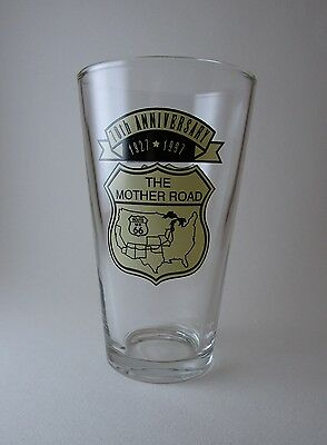 Route 66 The Mother Road 70th Anniversary 1927-1997 Collector Glass