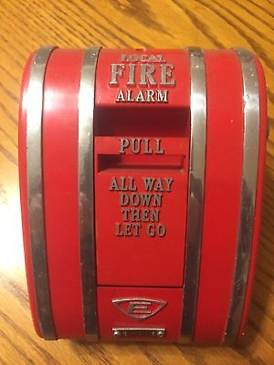 "RARE Edwards 1252 Coded Fire Pull Station Large 7"" H x 5"" W"