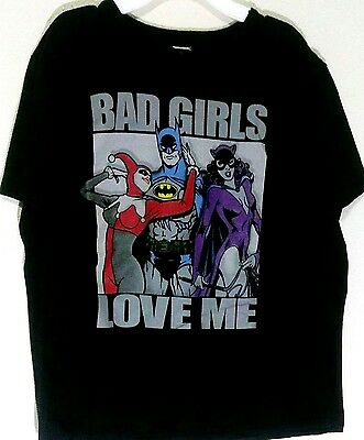 DC Short Sleeve T Shirt Batman Bad Girls Size Large L