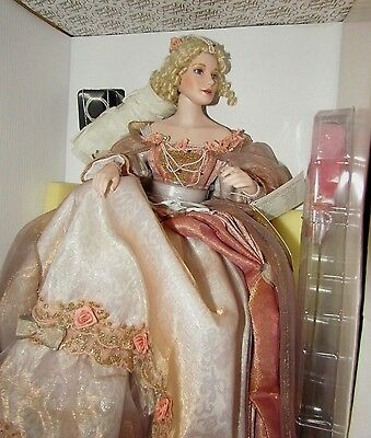 Franklin Mint Cinderella Happily Ever After Ball Gown Porcelain Doll Princess