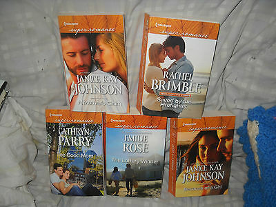Lot of 5 - Harlequin Super Romance Larger Print Books - 2016