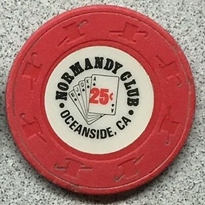 Normandy Club Casino $.25 chip from California