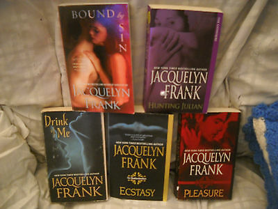 Lot of 5 - Jacquelyn Frank Paranormal Romance Books