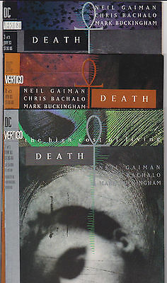 Death: The High Cost of Living 1 2 3 Complete VF Neil Gaiman FREE SHIPPING