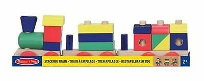 Melissa & Doug Stacking Train - Classic Wooden Toddler Toy (18 pcs) - NEW