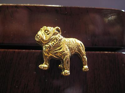 MINT!!! MACK TRUCKS BULLDOG VINTAGE  ADVERTISING HAT or LAPEL PIN GOLD TONE