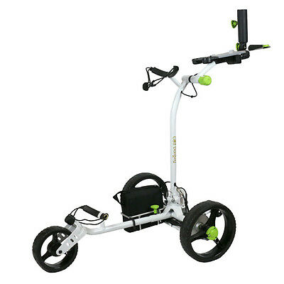 NEW Remote Control Electric Golf Trolley Cart, Auto-Run Feature, WHITE VERSION