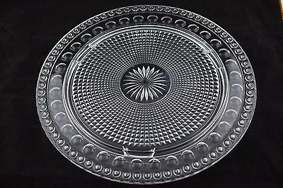 Imperial Glass Tradition 72 Candle Birthday Cake Plate with Starburst Center